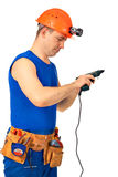 Worker with instrument Stock Images