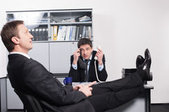 Worker on interview Royalty Free Stock Photography
