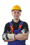 Worker isolated on white Stock Images