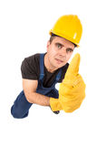 Worker isolated in white Royalty Free Stock Photography
