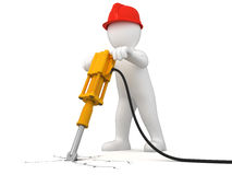 Worker with jackhammer Stock Image