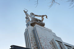 Worker and Kolhoz Woman monument, Moscow Stock Photo