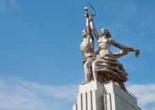 Worker and Kolkhoz Woman sculpture Royalty Free Stock Photos