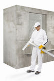 Worker with a lath Royalty Free Stock Photo