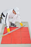 Worker levels Tiles measure Royalty Free Stock Photos