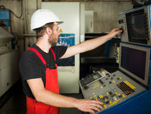 Worker looking busy Stock Photography