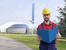 Worker Making An Inspection Royalty Free Stock Photo