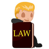 Worker Man Lawyer Cartoon Book Vector Royalty Free Stock Photography