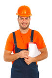 Worker man making presentation Stock Photography