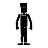 Worker man occupation employee pictogram Stock Image