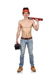 Worker man with toolbelt Royalty Free Stock Photography