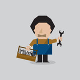 Worker Man With Toolbox. Worker Man With Toolbox Vector Illustration Stock Images