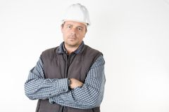 Worker man working places repair, construction, building and maintenance. Concept stock photography