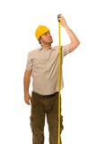 Worker with measure Royalty Free Stock Photo