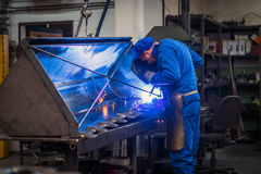 Worker in metal industry Stock Image