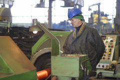 Worker in metal processing industry Stock Photo