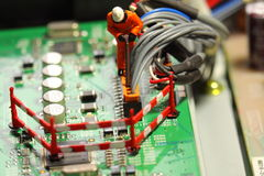 Worker model circuit board D Stock Photography