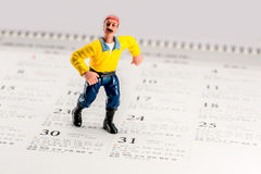 A worker model toy Stock Photo