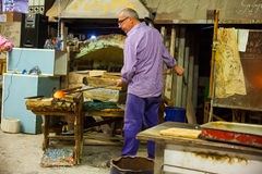 Worker of Murano furnace royalty free stock photography
