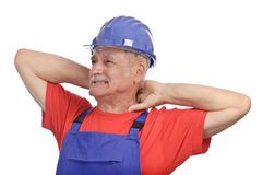 Worker neck pain Stock Images