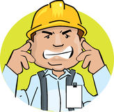 Worker noise Royalty Free Stock Photography