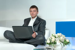 Worker in office Stock Image