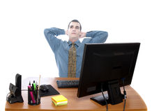 Worker at office Royalty Free Stock Photos