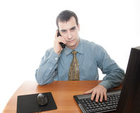 Worker at office Royalty Free Stock Photography