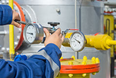Worker in oil industry Royalty Free Stock Photos