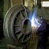 Worker On Welding Royalty Free Stock Images