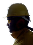 Worker over white Royalty Free Stock Photography