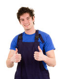 Worker in overalls Royalty Free Stock Images