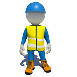 Worker in overalls. Isolated Stock Images