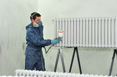 Worker painting. royalty free stock photography