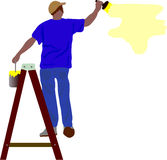 Worker painting Stock Photography