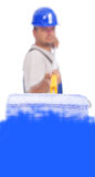 Worker painting copy space Royalty Free Stock Photography