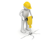 Worker with paving breaker Stock Image