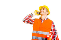 Worker on the phone Royalty Free Stock Photography