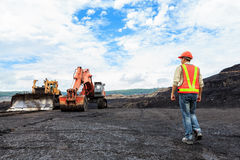 Worker in Pit stock images