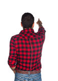 Worker with plaid shirt Royalty Free Stock Photo