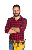 Worker with plaid shirt Stock Photography