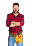 Worker with plaid shirt Stock Image