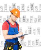 Worker planning the work day Royalty Free Stock Images