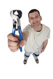 Worker with pliers Stock Photography
