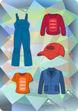 Worker, plumber man, woman fashion set Royalty Free Stock Image
