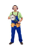 Worker with power tool Stock Images