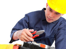 Worker prepare equipment Stock Photography