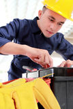 Worker prepare equipment Royalty Free Stock Image
