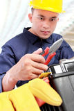 Worker prepare equipment Royalty Free Stock Images