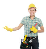 Worker presenting Stock Photos
